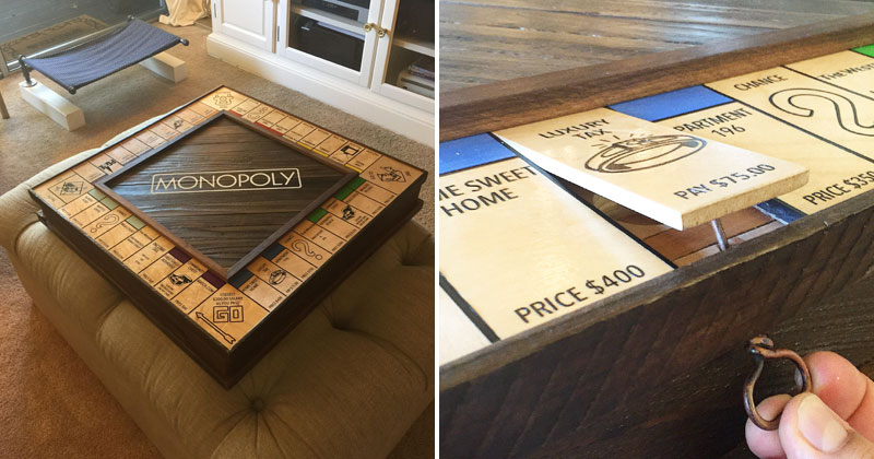 Guy Proposes With the Most Romantic Custom Monopoly Board Ever