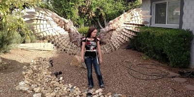 These Homemade, Articulating Pneumatic Wings are Awesome
