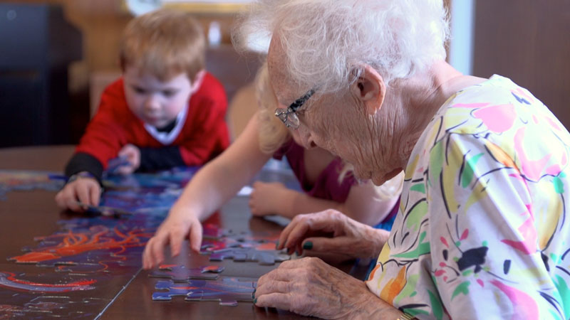 In Seattle, there's a Preschool Housed Inside a Retirement Home