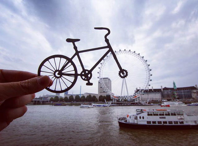 Rich McCor adds paper cutouts to his travel photos paperboyo instagram (3)
