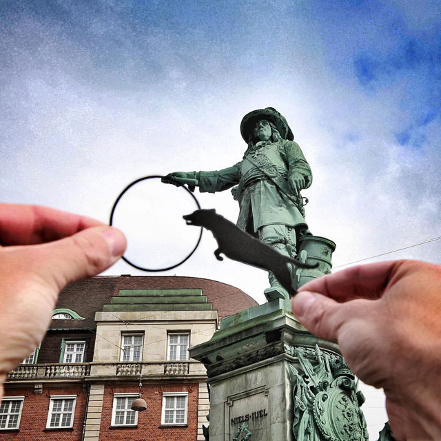 Rich McCor adds paper cutouts to his travel photos paperboyo instagram (9)
