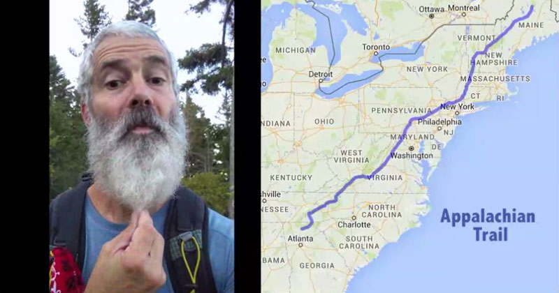 6 Month Timelapse Shows Man's Beard Grow as He Hikes Appalachian Trail