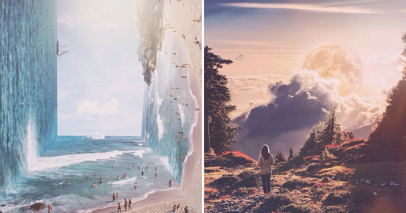 Artist Adds Surreal Twist to Photos on Instagram