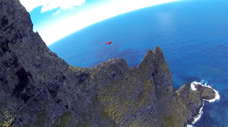 Wingsuit Flying Over the World's Tallest Volcano Stack (10)