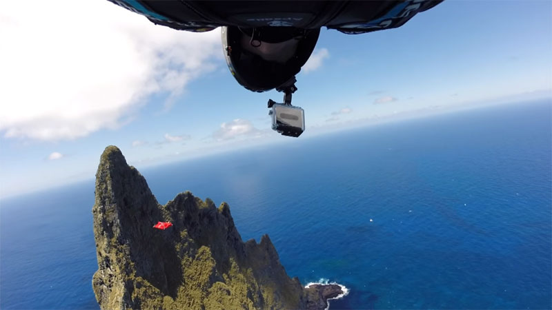 Wingsuit Flying Over the World's Tallest Volcano Stack (8)