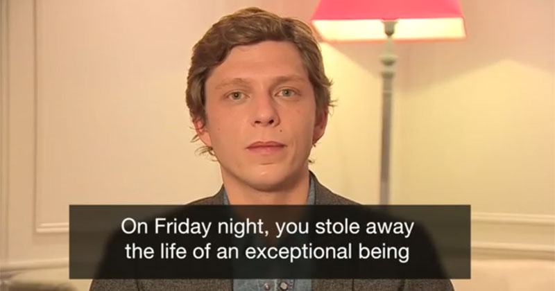 antoine leiris reads facebook letter in english