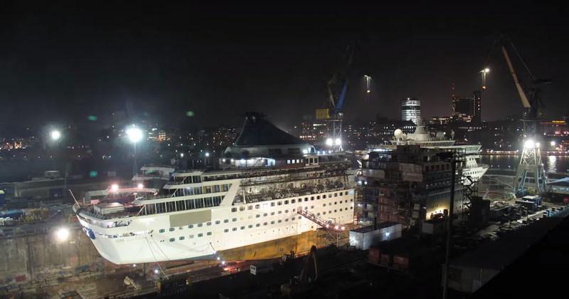 cutting-cruise-ship-and-adding-an-addition-timelapse