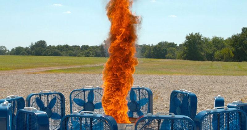 DIY Fire Tornado in Super SlowMotion