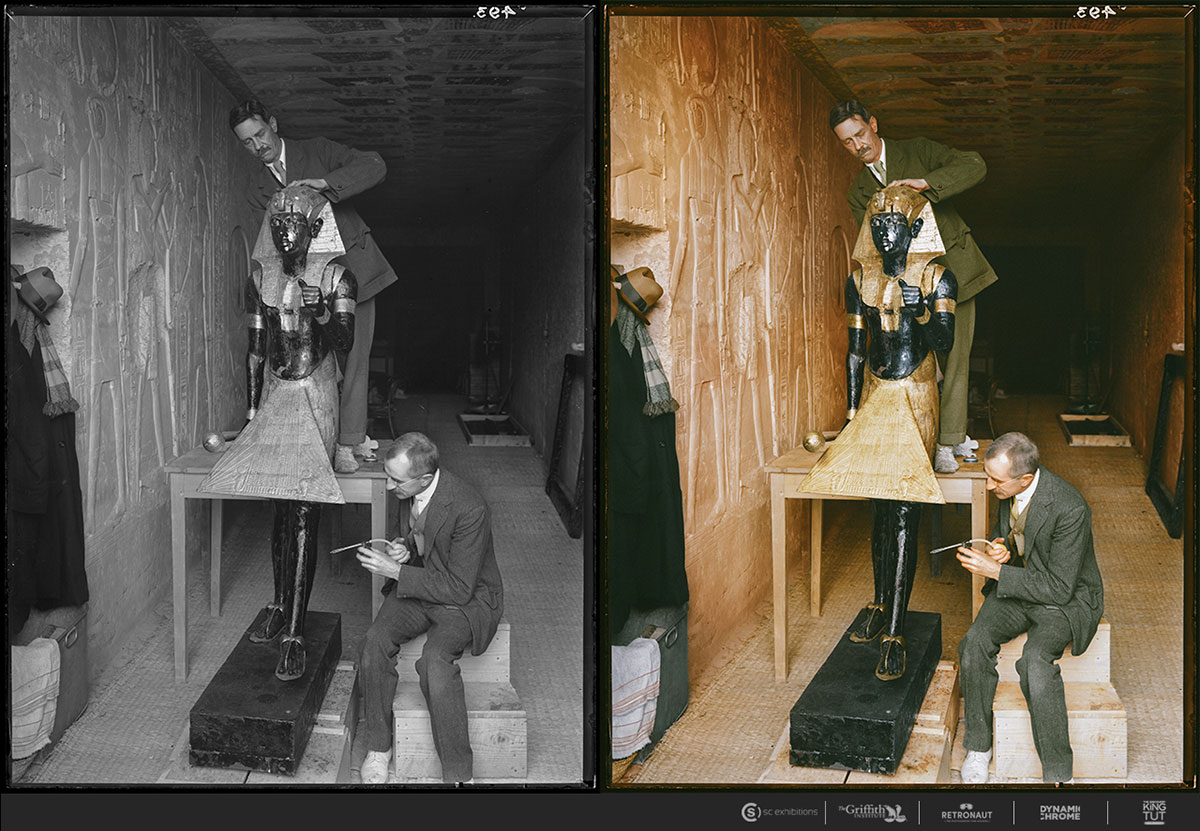 King Tut Tomb Discovery: 21 Colorized Photos From The 1920s Discovery Of King Tut