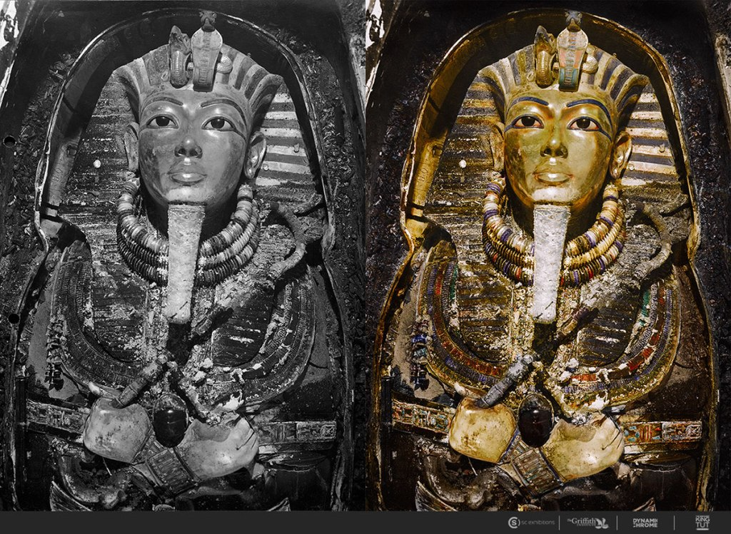 21 Colorized Photos from the 1920s Discovery of King Tut