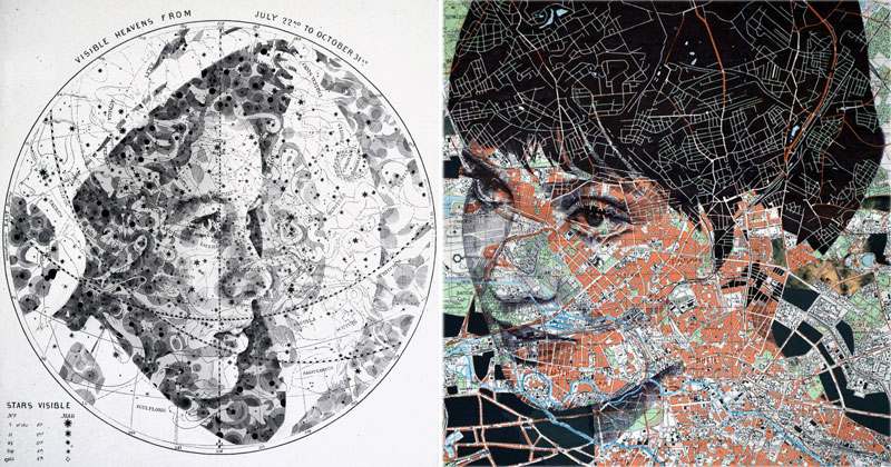 Artist Transforms Contours, Roads and Borders Into Stunning Portraits
