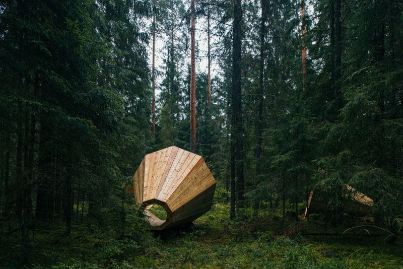 giant megaphones in the forest estonia (10)