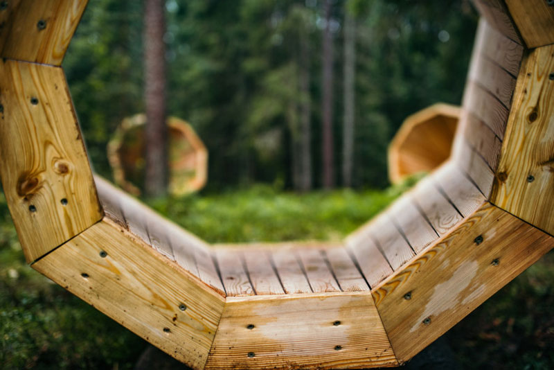 giant megaphones in the forest estonia (11)