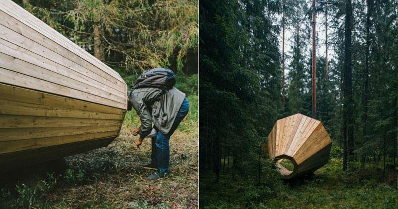 giant megaphones in the forest estonia (13)