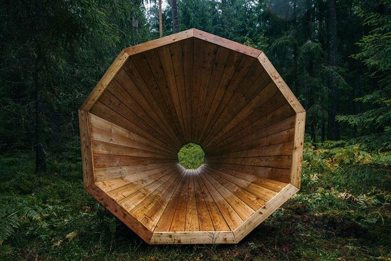 giant megaphones in the forest estonia (3)