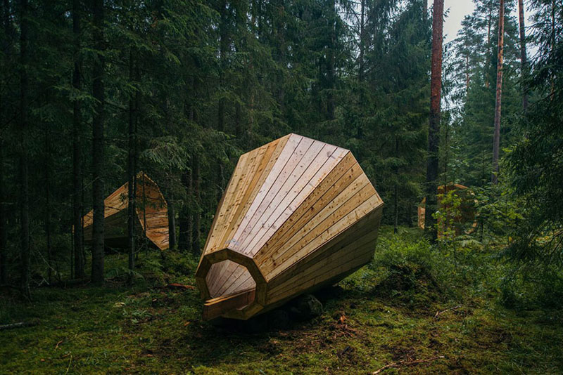 giant megaphones in the forest estonia (4)