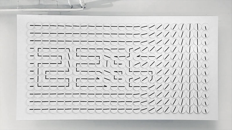 Meta Wall Clock Turns Analog Clock Hands Into Digital-Like Display by human since 1982 (1)
