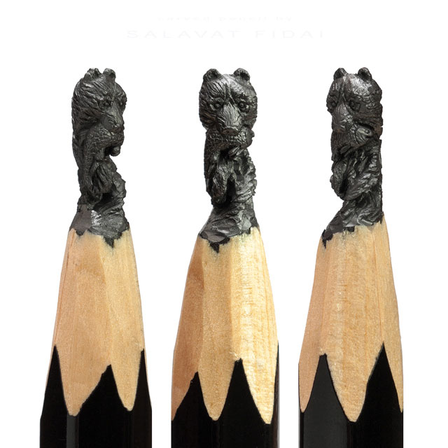 miniature sculptures carved on the tips of pencils by salavat fidai (12)