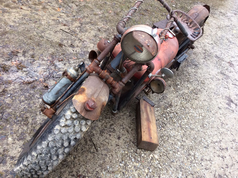 motorcycle made from old tractor by rustfarm (1)