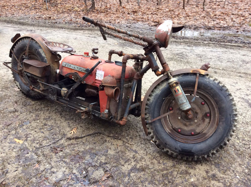 Guy Turns Old Tractor Into Badass Motorcycle 171 Twistedsifter
