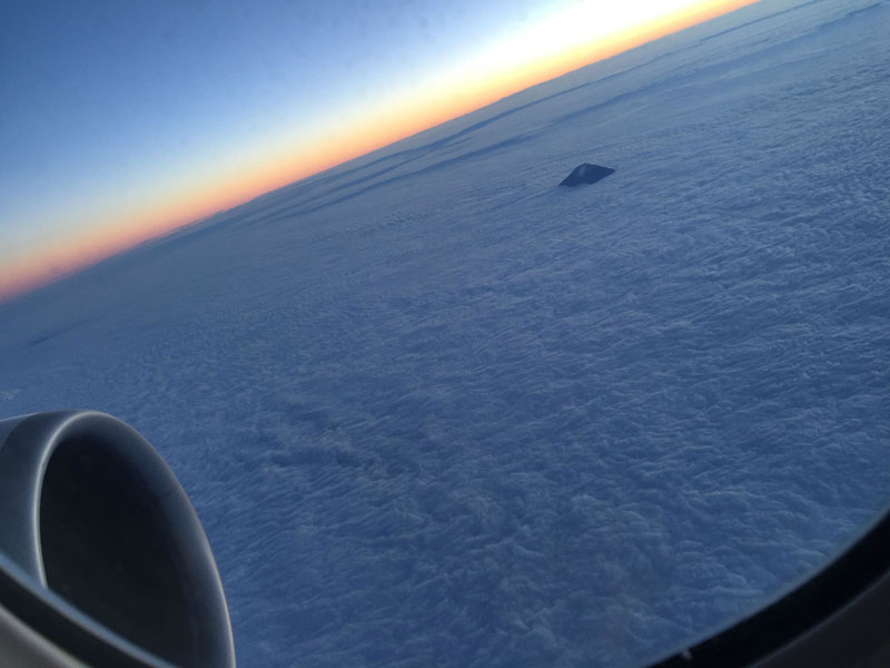 Picture of the Day: Tip of Fuji from an Airplane