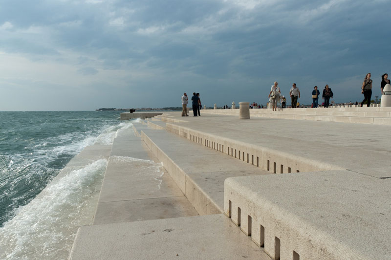 sea organ morsek orgulje played by waves