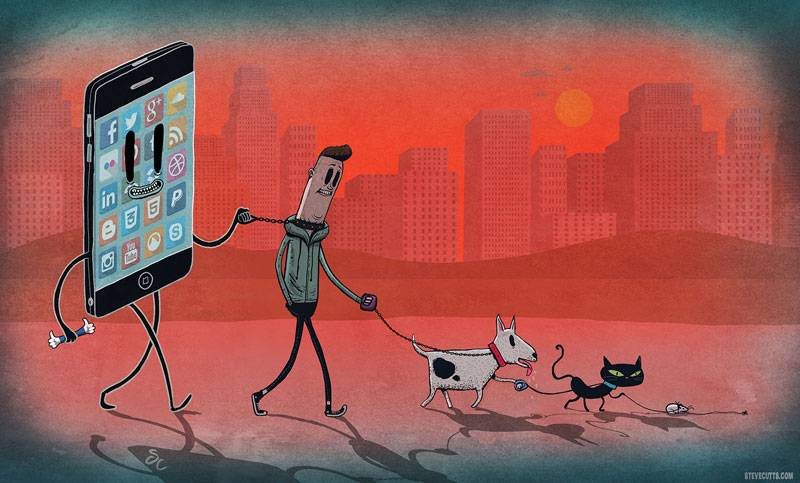 Steve Cutts Illustrates the Sad State of Today'sWorld