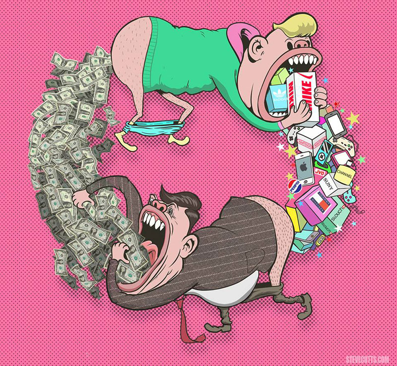 the sad state of todays world by steve cutts (7)