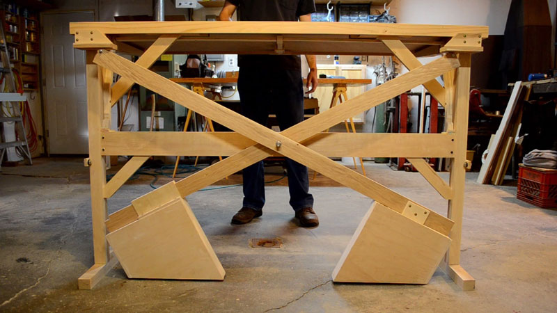 This Custom Built Wooden Counterweight Sit Stand Desk Is