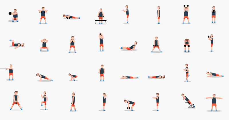 48 Awesome Exercises in a Single Animated Gif