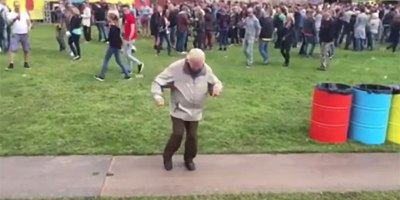 Awesome 83-Year-Old Rocks Out at Electronic Music Festival in TheNetherlands