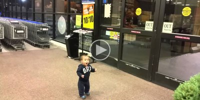 Baby Sees Automatic Sliding Doors for the FirstTime
