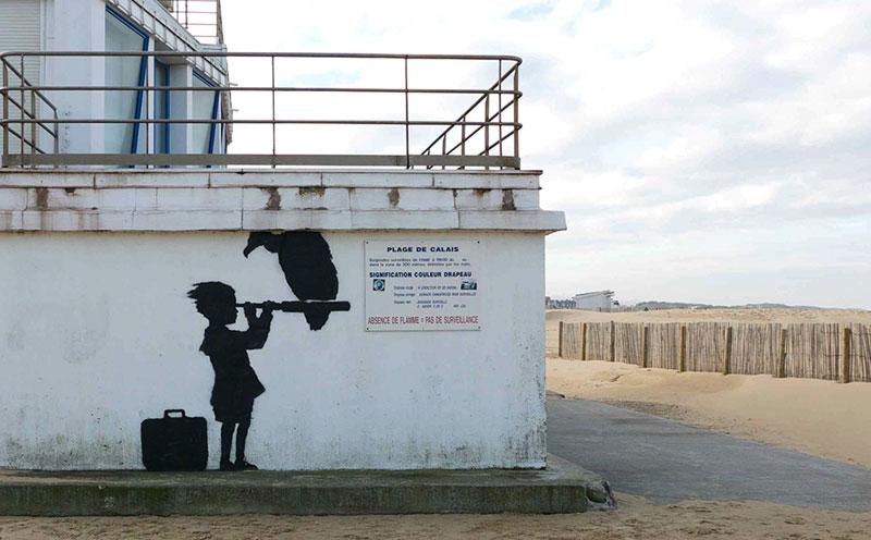 Banksy Mural of Steve Jobs Highlights Refugee Crisis (1)