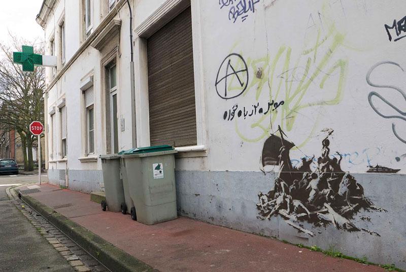 Banksy Mural of Steve Jobs Highlights Refugee Crisis (6)