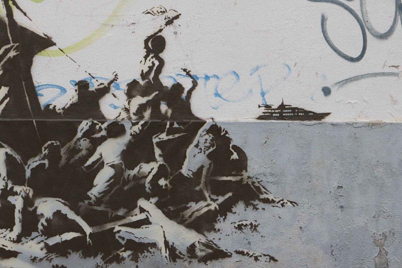 Banksy Mural of Steve Jobs Highlights Refugee Crisis (8)