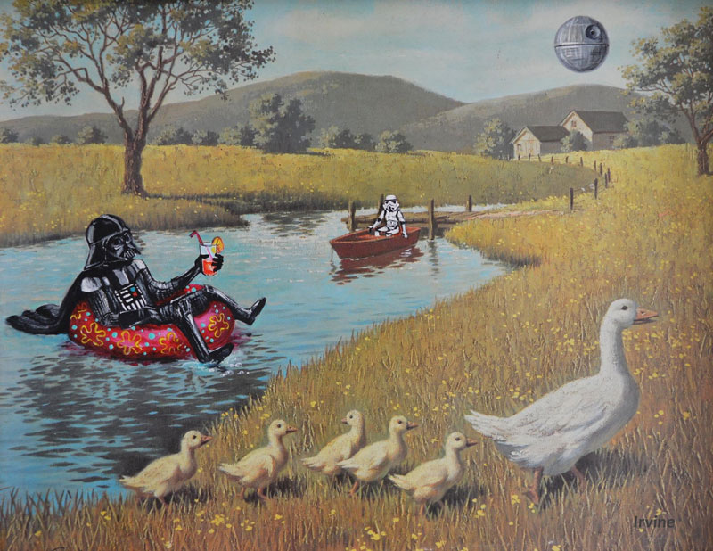 Darth Vader on his day off thrift store painting remixes by david irvine 2