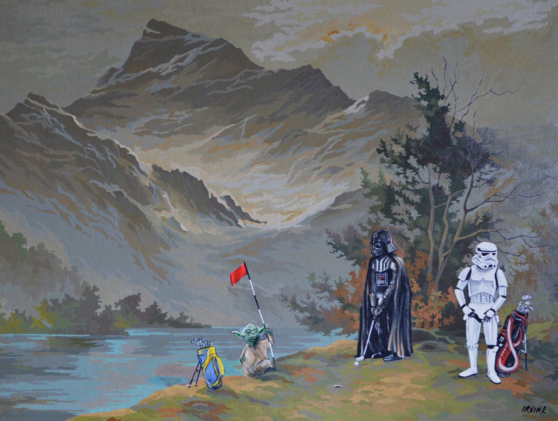 Darth Vader on his day off thrift store painting remixes by david irvine 4