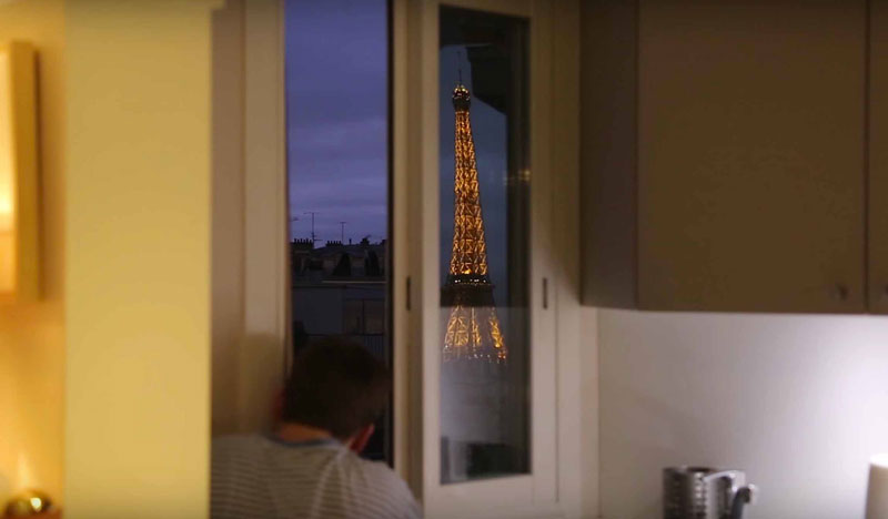 Guy Makes Giant Periscope So He Can See the Eiffel Tower from Bed