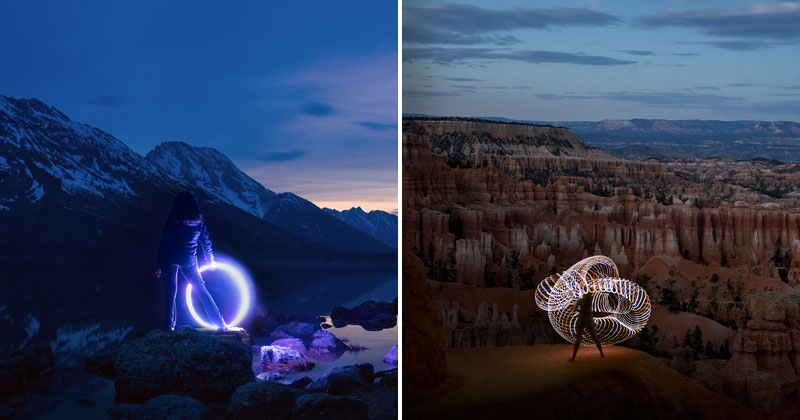 Light Painting Wedding Photography: Photographer Road Trips The US With His Camera, Girlfriend