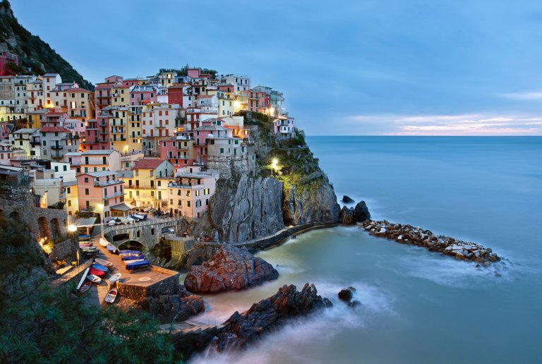 Sunrise in Manarola, Italy