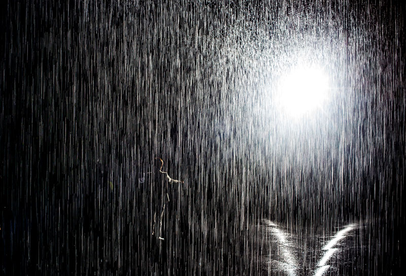 This Art Exhibit Lets You Walk Through Rain Without