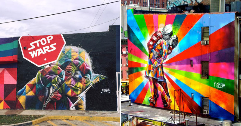 The Kaleidoscope Street Art Portraits of Eduardo Kobra (24 Photos)