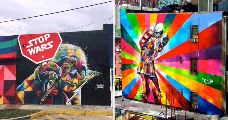 The Kaleidoscope Street Art Portraits of Eduardo Kobra (24Photos)