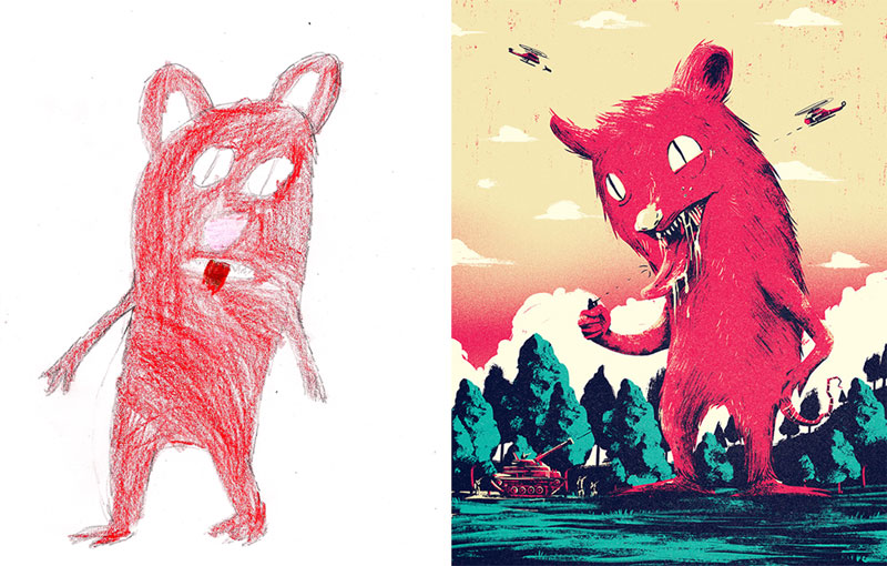 the monster project brings kids drawings to life (10)