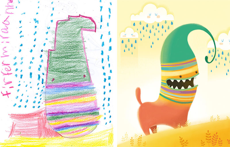 the monster project brings kids drawings to life 11 - Kids Drawings Images