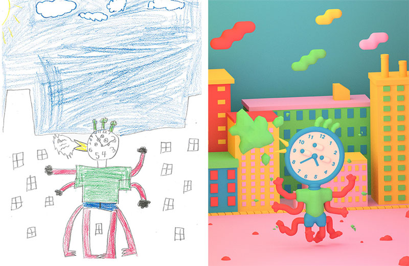 the monster project brings kids drawings to life (16)