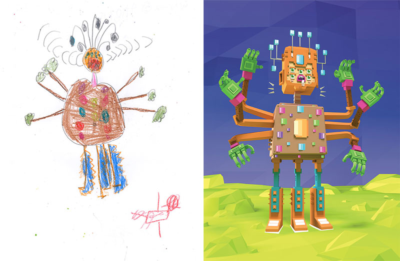 the monster project brings kids drawings to life 17