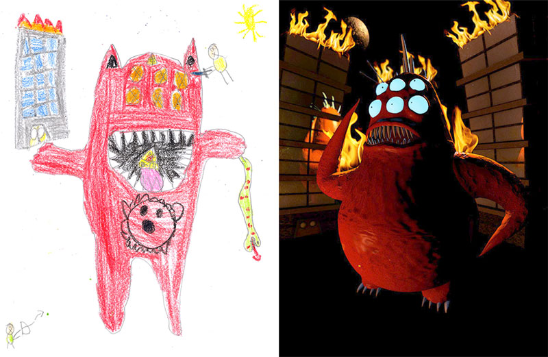 the monster project brings kids drawings to life (18)
