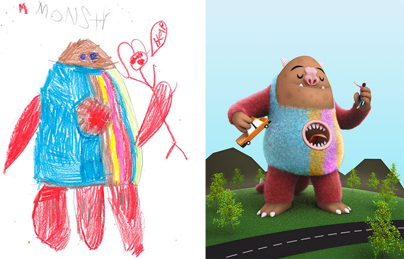 the monster project brings kids drawings to life (25)