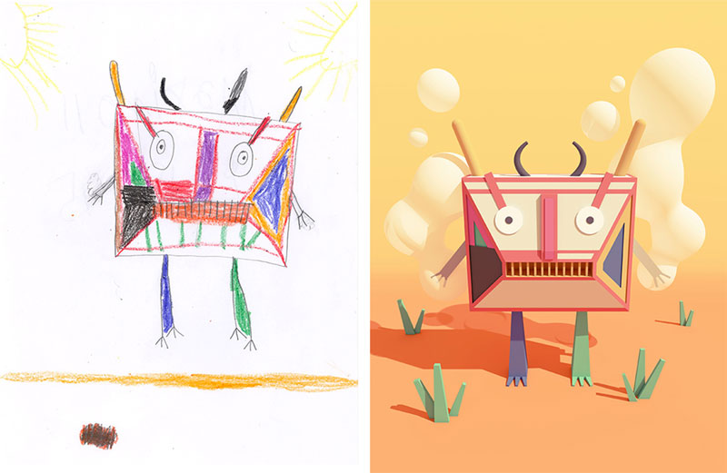 the monster project brings kids drawings to life (27)